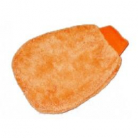 Microfibre Gant de lavage bi-faces orange Porzelack